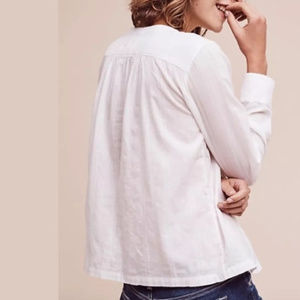 Anthropologie Maeve LIKE NEW White Button Down